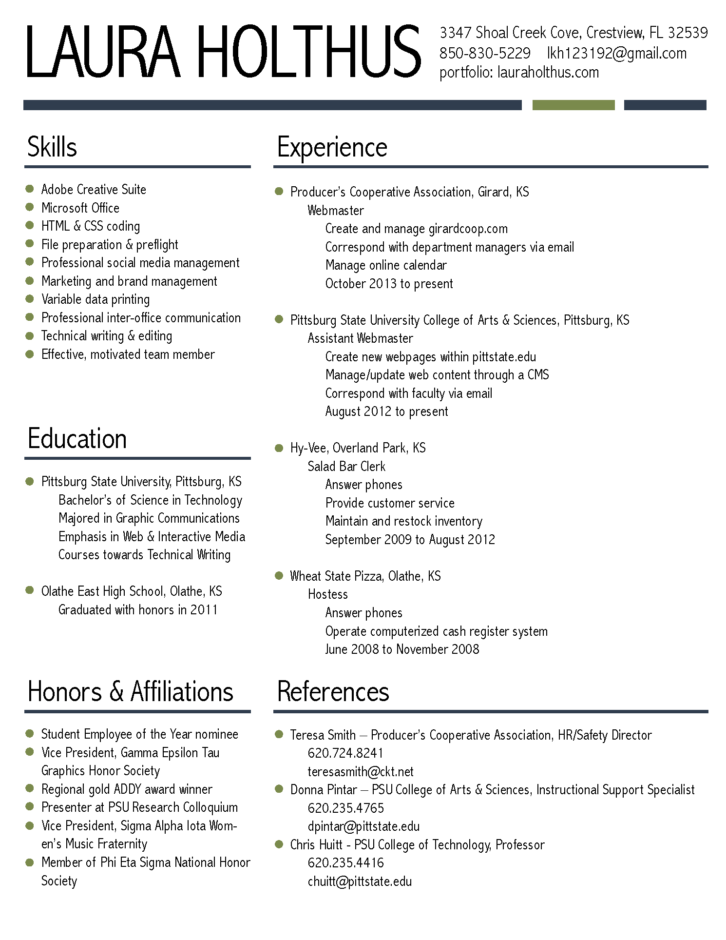 Resume Laura Holthus
